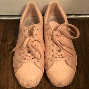 adidas Shoes - Pink Leather Adidas Superstar 80s